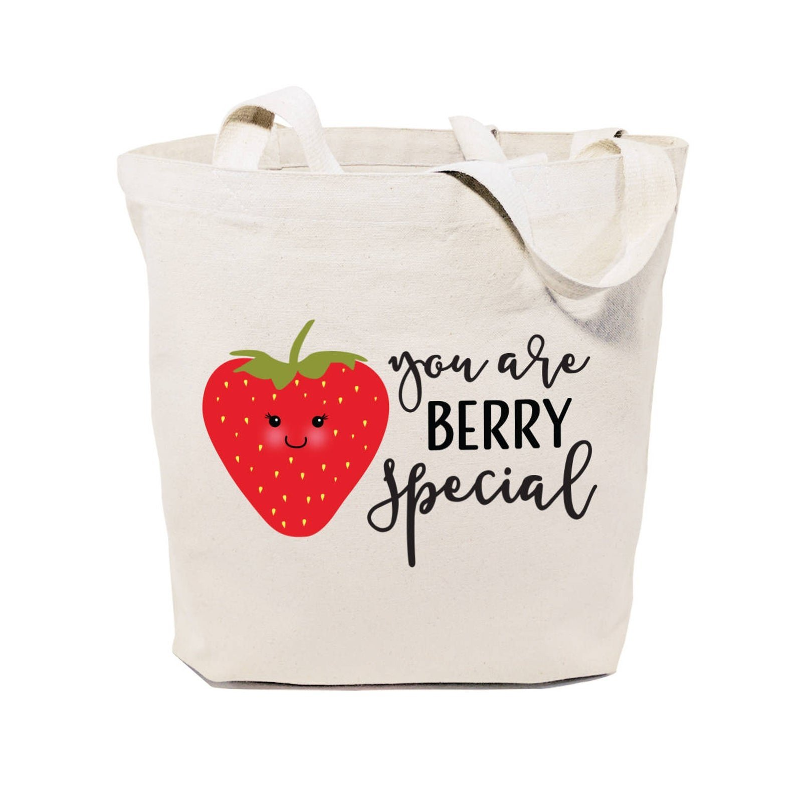 tote bag that says you are berry special with strawberry on it