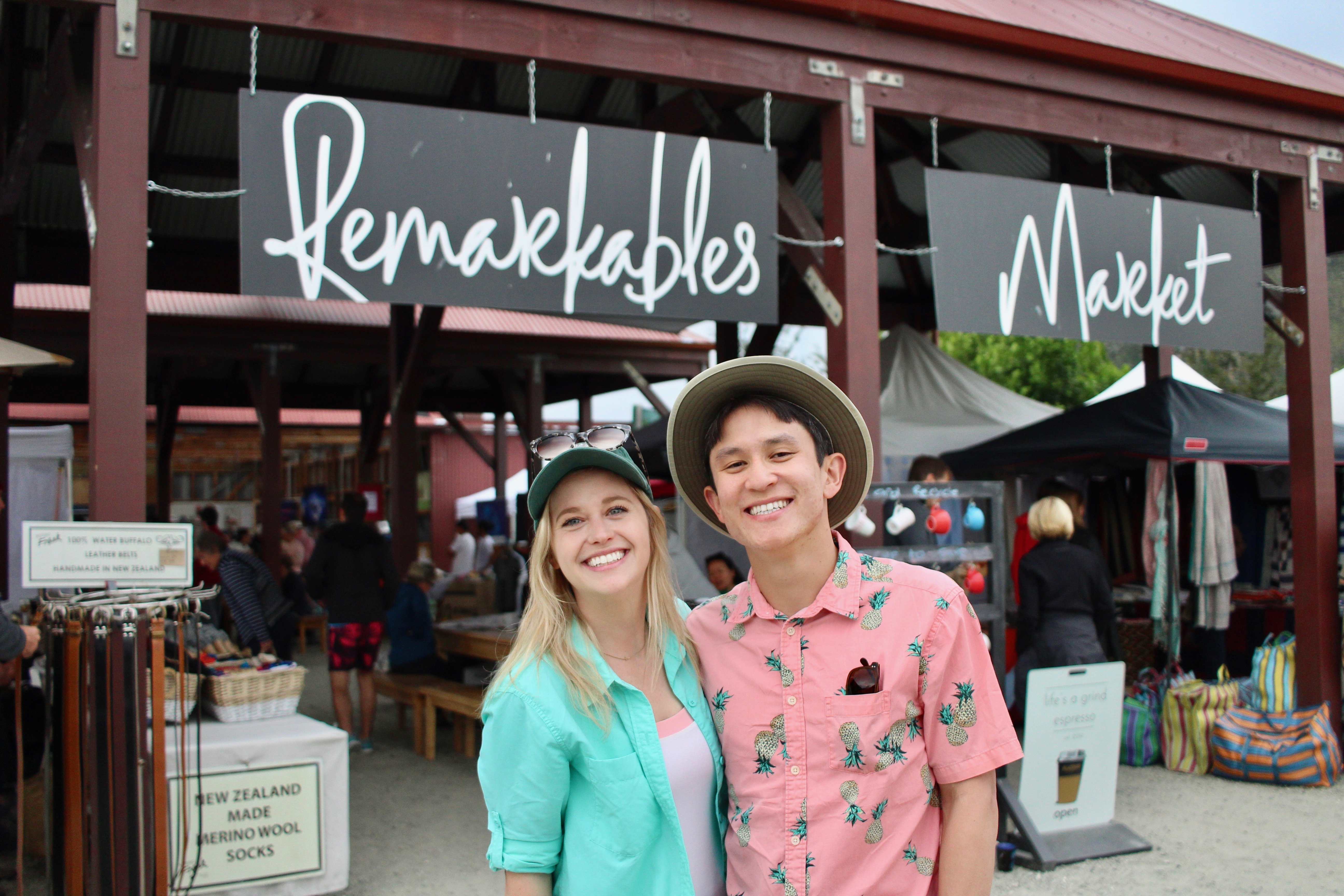Chelsea and Chris at Remarkables Market