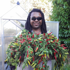 grimm owner in with lots of peppers