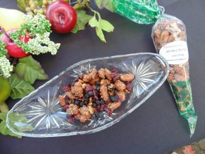 take a hike almonds in bag and dish
